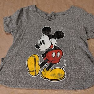 Disney Mickey Mouse gray t-shirt sz Large